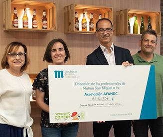 AFANOC recibe ayuda solidaria de la Fundación Mahou San Miguel