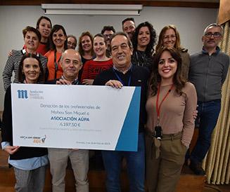 Asociacion Aupa recibe la ayuda social de Fundacion Mahou San Miguel