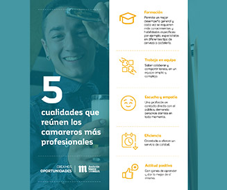 Infografía cualidades profesional de sala